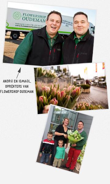 Ismaël en André, Eigenaars Flowershop Oudeman