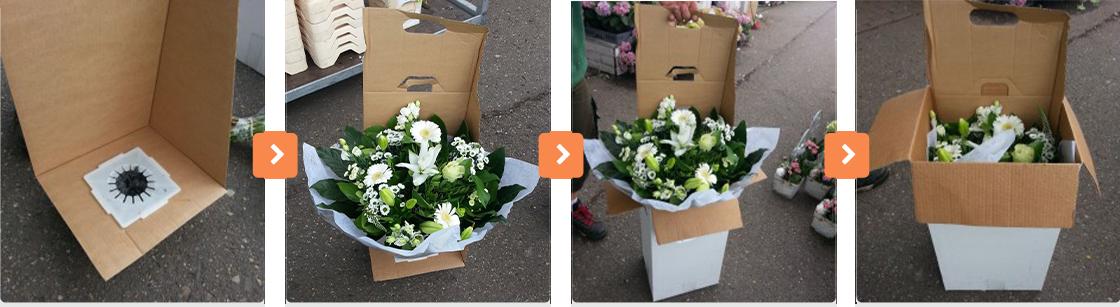 De manier waarop onze bloemen worden ingepakt voor versturing